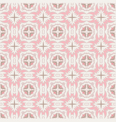 Seamless abstract tiled pattern cute pink tiles vector