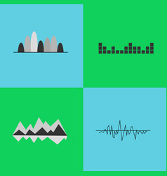 set of black and white charts vector image