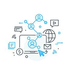 Social media vlog virtual communication vector