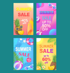 Summer sale off price poster vector