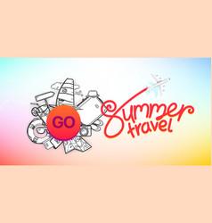 summer travel banner travel concept vector image