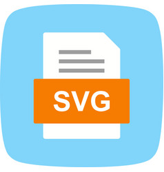 Svg file document icon vector