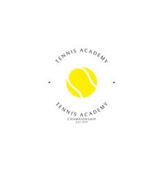 Tennis club logo template vector