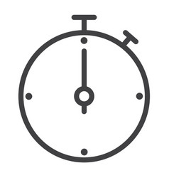 timer line icon web and mobile wallpaper sign vector image