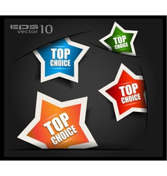 Top Choice Labels vector image