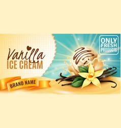 Vanilla ice cream ad vector