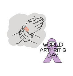 World arthritis day symbolic image a persons vector