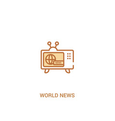 World news concept 2 colored icon simple line vector
