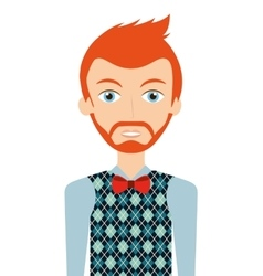 young man isolated icon design vector image