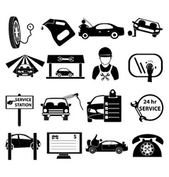 Auto service center icons set vector image