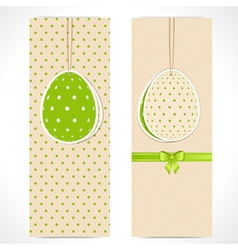 Easter egg banner backgrounds and ribbon vector image