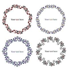 Floral decorative frames set vector image