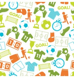 soccer football color icons seamless pattern eps10 vector image