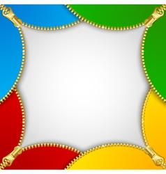 Zipper decoration vector image