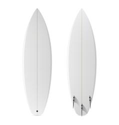 Blank surfboard vector image vector image
