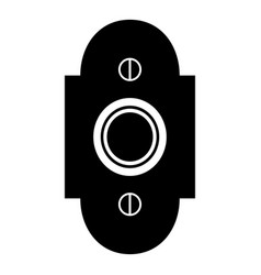 Doorbell icon black color flat style simple image vector