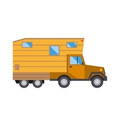 Family traveler truck summer trip concept caravan vector image