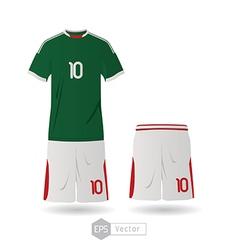 mexico team uniform 02 vector image vector image