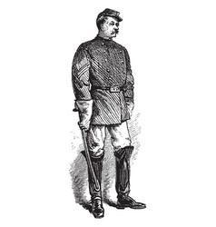 Savannah sergeant of police vintage vector