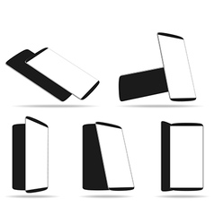 Set modern smartphones different angles views vector image