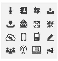 web communication icon vector image vector image