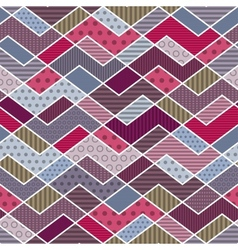 Abstract geometric patchwork pattern vector image vector image