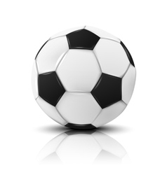 Blank photo realistic isolated on white football vector image vector image