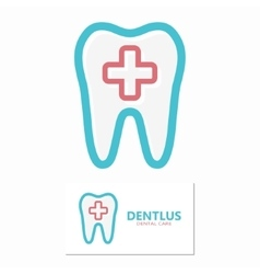 dental icon or logo vector image vector image