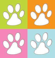 Animal paw colourful vector image vector image