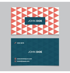 business card pattern red 03 vector image