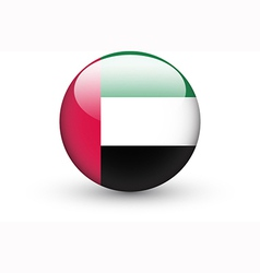 Round icon with flag of the United Arab Emirates vector image