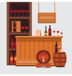 A wine shop vector