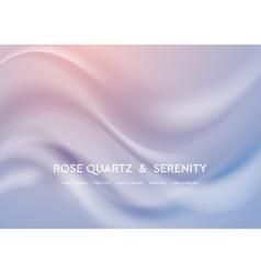 Abstract elegant rose quartz and serenity wavy vector