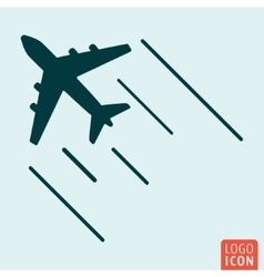 Airplane icon isolated vector