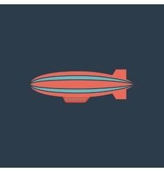 Airship flat icon vector
