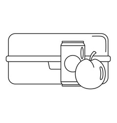 Apple cola box icon outline style vector