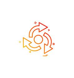 Arrow straight right left centre icon design vector