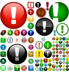 attention buttons vector image