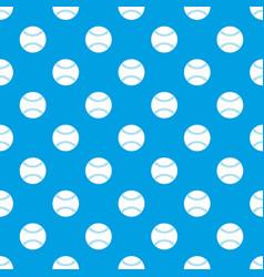 baseball pattern seamless blue vector image
