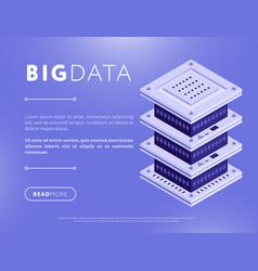 big data element design vector image