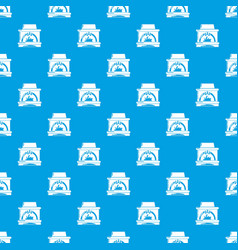 Blast furnace pattern seamless blue vector