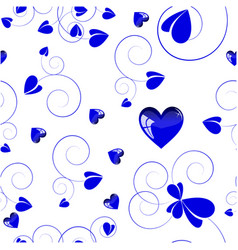 blue love design white background vector image