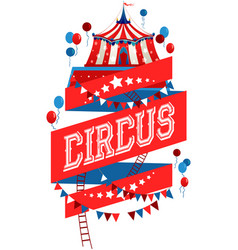 Bright circus poster vector