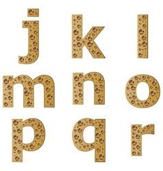 Bubble alphabet - part 2 vector
