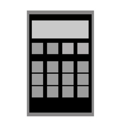 Calculator with grey buttons vector