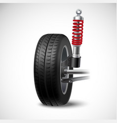 Car Suspension vector