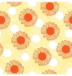 chamomile pattern red vector image