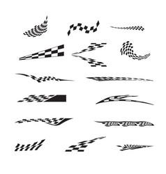 checkered racing flag splatters vector image