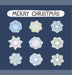 christmas modern set with ilustrations of vector image