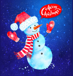 christmas of snowman vector image